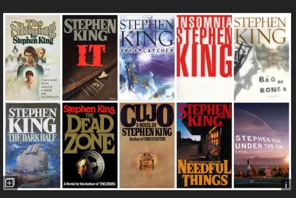 Stepen kIng books