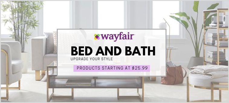Wayfair Deals on Bed and Bath
