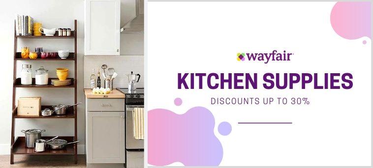 Wayfair Deals on Kitchen Supplies
