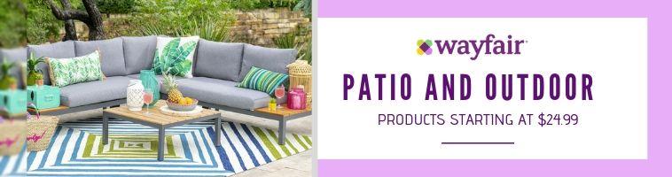 Wayfair deals on Patio and Outdoor